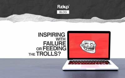 Inspiring with failure or feeding the trolls?