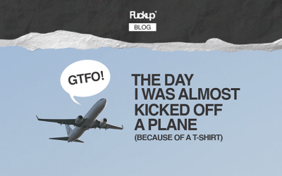 The day I was almost kicked off a plane (because of a T-shirt)